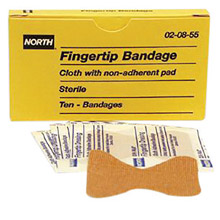 North by Honeywell Latex Free Woven Fingertip Adhesve Bandage 20855