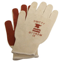 North by Honeywell NOS81/1162M Large Smitty Abrasion Resistant Brown Nitrile Palm Coated Work Gloves With Knit Wrist