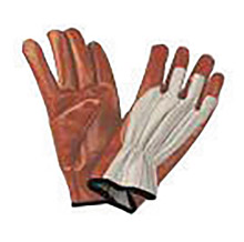 North by Honeywell NOS85/3729L Large Worknit Heavy Weight Black Nitrile Palm And Finger Coated Work Gloves With Cotton Liner And Slip-On Cuff