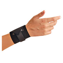 OccuNomix OCC311-068 Black Woven Elastic Ambidextrous Wrist Support With Wrap Around Hook And Loop Closure Without Thumb Loop