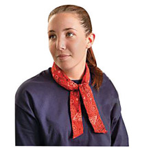 OccuNomix OCC940-LYO Assorted Color MiraCool 100% Cotton Neck Bandana