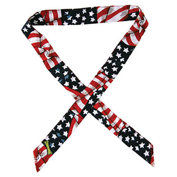 OccuNomix OCC954-WAV Wavy Flag MiraCool Cotton Headband With Tie Closure