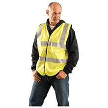 Occunomix X Large Hi Viz Yellow Flame Resistant Cotton LUX-SSCFGFR-YXL
