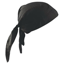 OccuNomix OCCTN6-06 Black Tuff Nougies 100% Cotton Deluxe Doo Rag Tie Hat With Elastic Rear Band