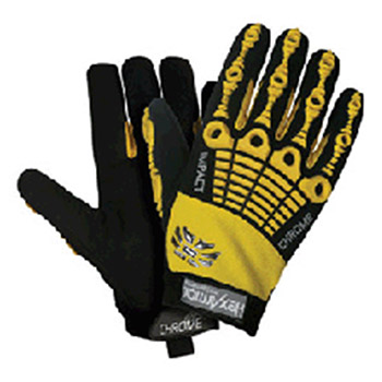HexArmor Cut Resistant Gloves X Large Black Yellow Chrome Series 4025-XL