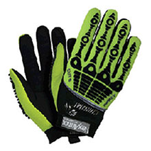 HexArmor Cut Resistant Gloves Size 9 Black Hi Vis Green Chrome Series 4026-9