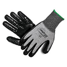 HexArmor Cut Resistant Gloves 9 Black Gray Level 6 Series SuperFabric 9010-9