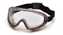 Pyramex Safety Glasses Frame Direct Indirect Gray Frame Clear G504DT