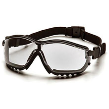 Pyramex Safety Glasses V2G Frame Black Clear Anti Fog GB1810ST