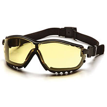 Pyramex Safety Glasses V2G Frame Black Amber Anti Fog GB1830ST