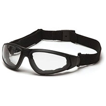 Pyramex Safety Glasses XSG Frame Black Clear Anti Fog GB4010ST