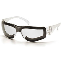 Pyramex Safety Glasses Intruder Frame Clear w Full Foam Padding S4110STFP