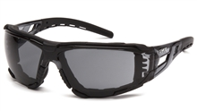 Pyramex Fyxate Dielectric Safety Glasses, Black Rubber Temple Tips and Nosepiece and Frame, Gray H2XMAX Anti-Fog Polycarbonate Single Wraparound Lens, Foam Padded Per Pair