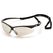 Pyramex Safety Glasses Frame Black Indoor Outdoor Mirror SB6380SP