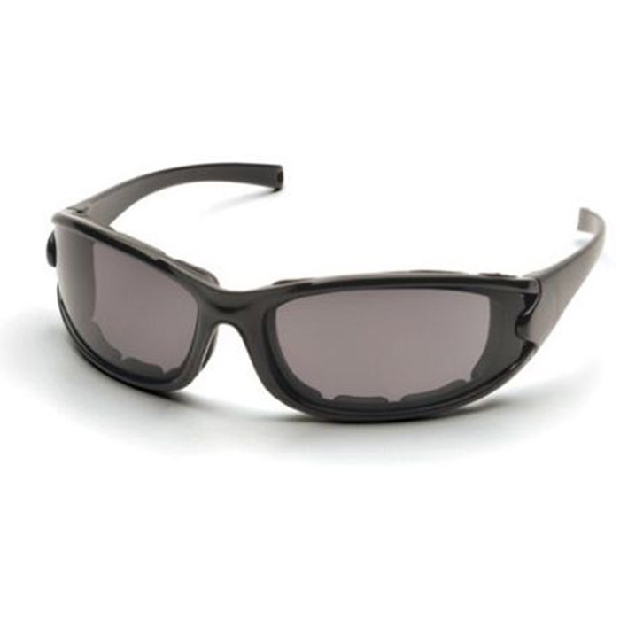 pyramex safety glasses pmxcel frame glossy black gray sb7321dt