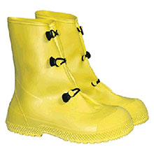 Radnor PVC Boots Small Yellow 12in 3 Button Overboots 64055796