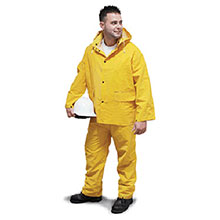 Radnor Rainwear Large Yellow .35 mm PVC Polyester 64055912