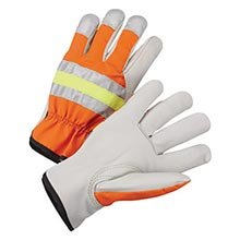 Radnor Gray And Hi-Viz Orange Grain Cowhide RAD64057049 X-Large