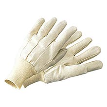 Radnor Men's White 10 Ounce 100% Cotton Canvas Gloves   RAD64057104