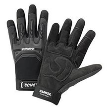 Radnor Black And Gray Full Finger Synthetic RAD64057361 Medium