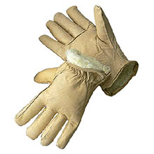 Radnor Cold Weather Gloves Small Tan Leather Pile Lined 64057418
