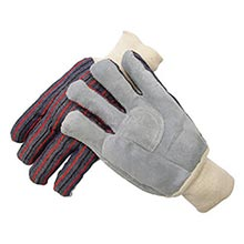 Radnor Ladies Economy Grade Split Leather Palm Gloves   RAD64057512