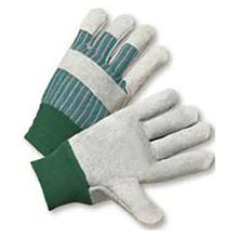 Radnor Standard Split Cowhide Leather Palm Gloves RAD64057536 Large