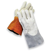 Radnor Mig Tig Gloves Large Gray Unlined Calf Skin 64057862
