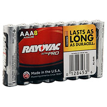 Rayovac Alkaline UltraPro Shrink Wrapped AAA 8 Pack AL-AAA