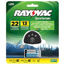 Rayovac 22 Lumen 3AAA 0.5 Watt 5 LED Headlight SPHLT3AAA-BA