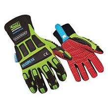 Ringers Gloves Hi-Viz Green And Black Roughneck RI5266-12 Size 12