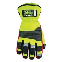 Ringers Hi-Viz Yellow And Black Zero Full Finger RI5277-09 Medium