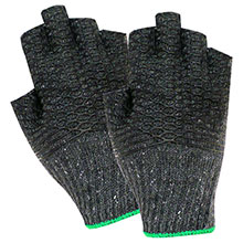 Red Steer Gloves Gray cotton synthetic blend Cotton Chore Knit 1135