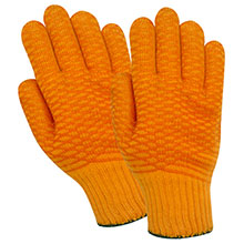 Red Steer Gloves Orange cotton synthetic blend Cotton Chore Knit 1145