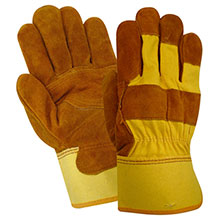 Red Steer Gloves brown suede cowhide Unlined 13465-L