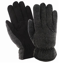 Red Steer Gloves HeatSaver thermal lined premium black suede 150