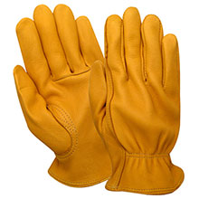 Red Steer Gloves Premium golden grain deerskin Unlined 1505