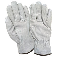 Red Steer Gloves Pearl gray suede cowhide Unlined Driver 15110