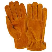 Red Steer Gloves Golden brown suede cowhide Unlined 15170