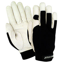 Red Steer Gloves Premium white grain goatskin palm 1523