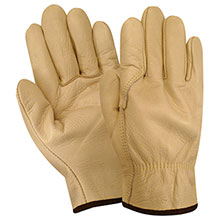 Red Steer Gloves Premium grade grain cowhide Unlined 1545