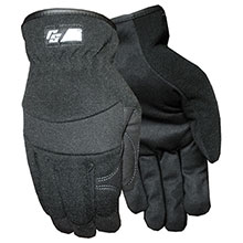 Red Steer Gloves Ironskin black synthetic leather palm 170