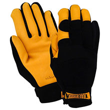 Red Steer Gloves HeatSaver thermal lined premium golden 175