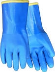 Red Steer Gloves Heavyweight fully coated blue PVC 194-L