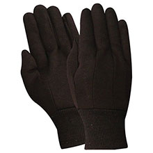 Red Steer Gloves 9 oz. brown jersey Cotton Chore Knit 23001-L