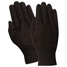Red Steer Gloves brown jersey Cotton Chore Knit 23003-2