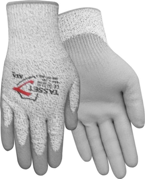 Red Steer Gloves 13 gauge salt pepper cut resistant palm 506