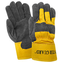Red Steer Gloves Thinsulate thermal lined suede cowhide 53150