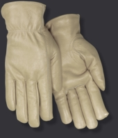 Red Steer Gloves Black fleece thermal lined grain cowhide 5555