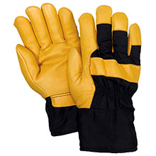 Red Steer Gloves HeatSaver lined Lined Leather Palm 56360